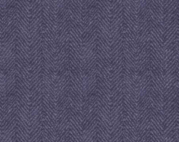 Maywood Woolies Violet Blue Herringbone MASF-1841-V Flannel Fabric BTY