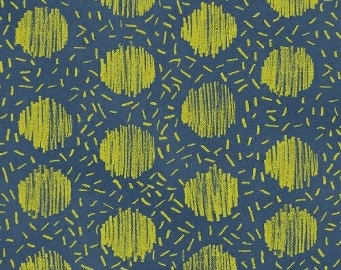 Windham Beyond the Reef Natalie Barnes Homeward Turquoise Teal Blue Green Circle Sprinkle Fabric BTY 50812-12