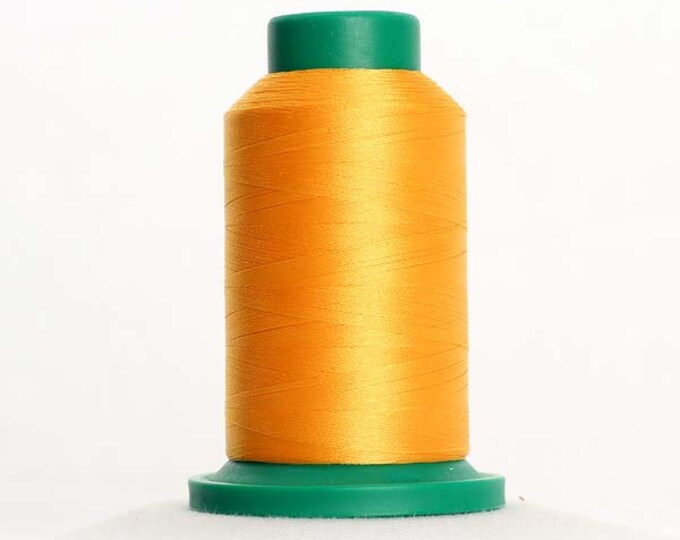 ISACORD Polyester Embroidery Thread Color 0700 Bright Yellow 1000m