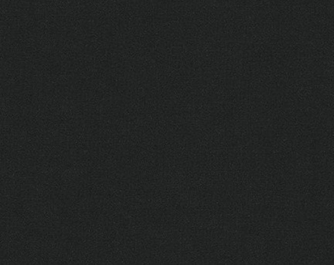 Robert Kaufman #1019 Black  Linen solid Fabric BTY
