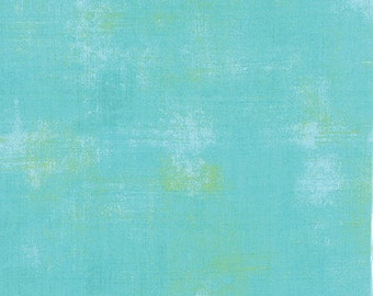 Moda Grunge Basics POOL Teal Mottled Background Fabric 30150-226 BTY