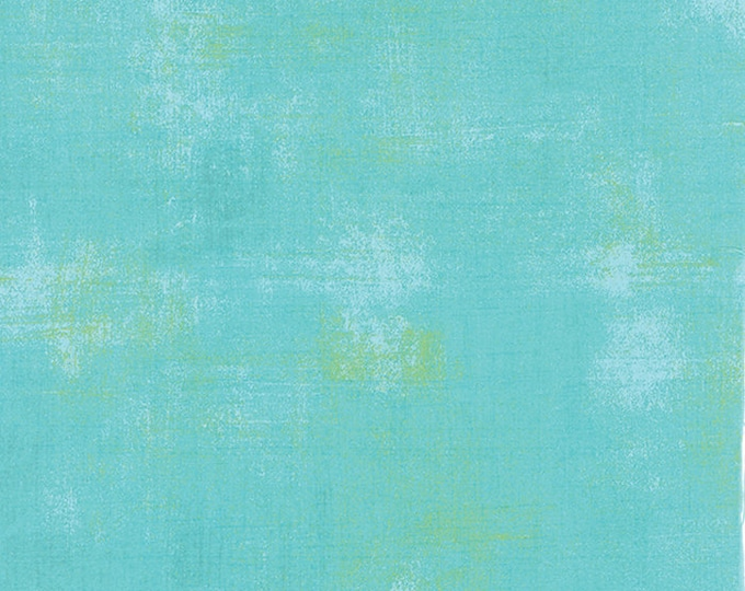 Moda Grunge Basics POOL Teal Mottled Background Fabric 30150-226 BTY