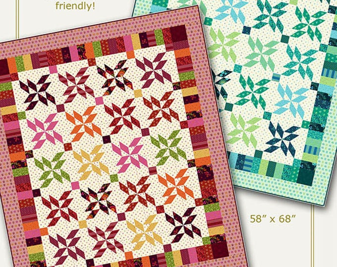 Nancy Rink Designs It's Intriguing 58 x 68 Fat Quarter Friendly Quilt Pattern Free Ship
