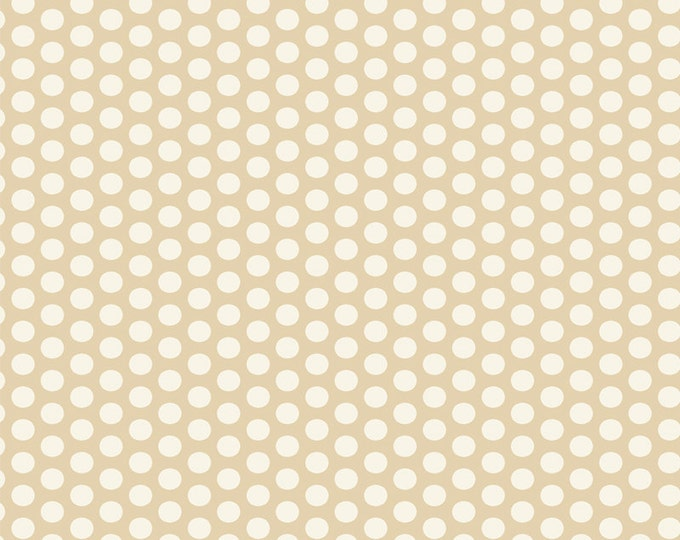 Moda Studio M Muslin Mates Polka Dots Natural Cream Beige Background Fabric 9972-12 BTHY