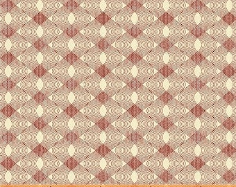 Windham Simply Red Mary Koval Red Cream Wave Blender Civil War Reproduction Fabric 42897-2 BTY
