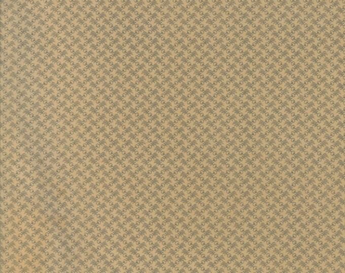 Moda Gratitude Jo Morton Tan with Grey Blue Brown Floral Civil War Fabric 38008-15 BTY