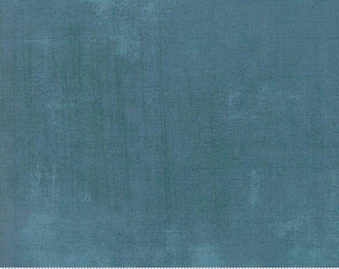 Moda Grunge Basics New CABANA Blue Denim Teal Mottled Background Fabric 30150-485 BTY