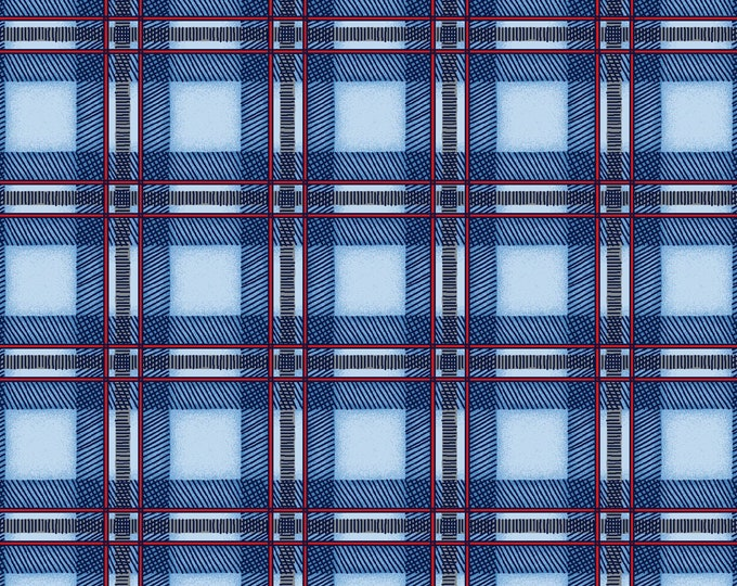 Maywood Fabric MAS9355-B Cozy Cabin Designer: Kris Lammers Plaid BTY