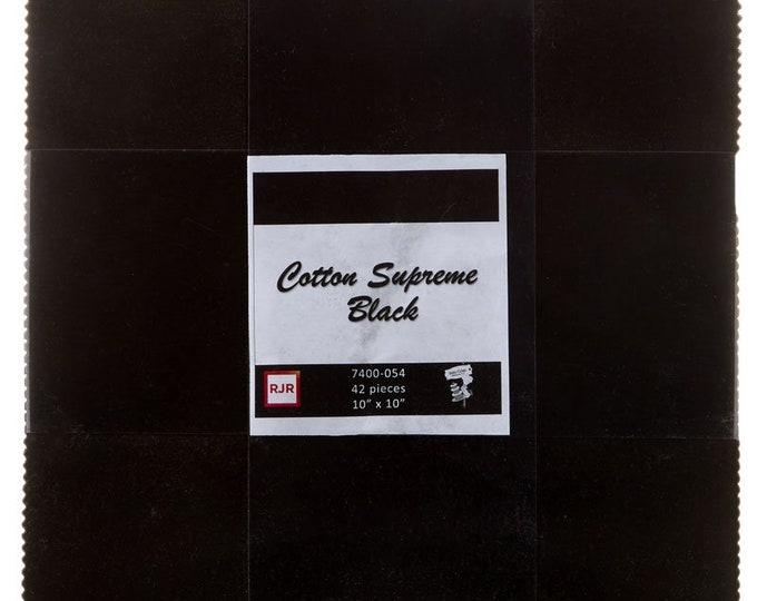 RJR Cotton Supreme Black Ink Patty Cake Layer Cake 42 Fabric 10 Inch Squares