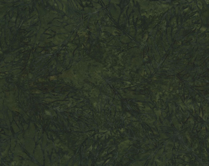 RJR Malam Jinny Beyer Batik Fabric Dark Hunter Green Forest Leaf 2145-004 BTY