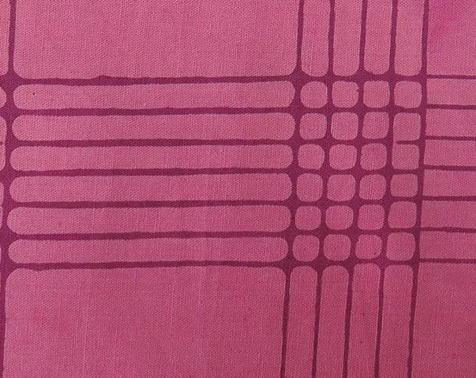 NEW Andover by Alison Glass Chroma Sun Prints 8132-E1 Plum Purple Plaid Batik Fabric BTHY