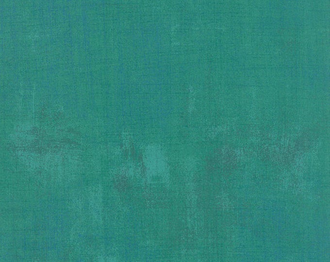 Moda Grunge Basics JADE Bright Green Teal Mottled Background 30150-305 Fabric BTY