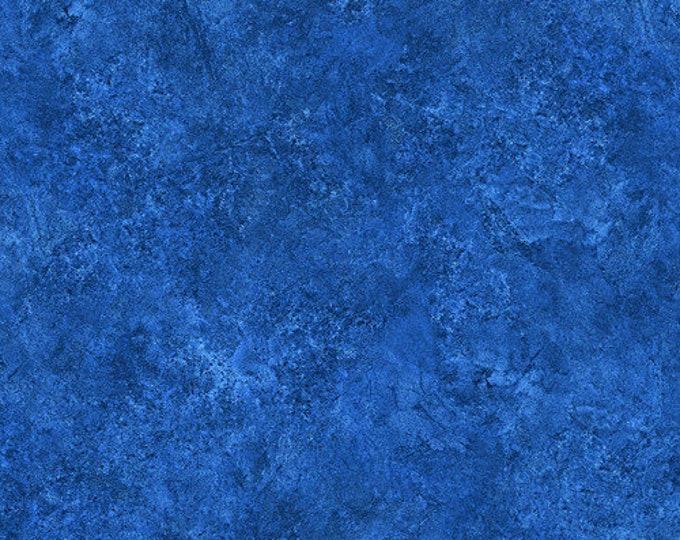 Northcott Stonehenge Indigo Cobalt Blue Mottled Granite Marble Fabric 39301-45 BTY