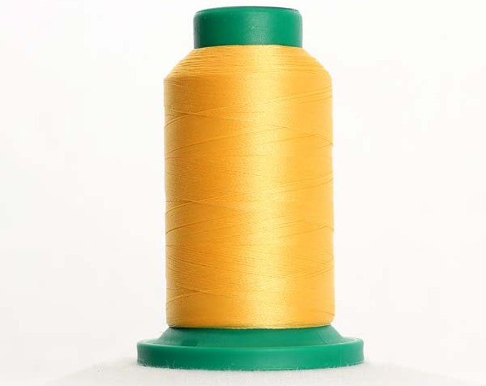 ISACORD Polyester Embroidery Thread Color 0713 Lemon 1000m