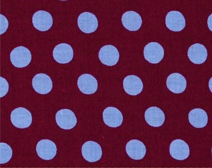 NEW Free Spirit Kaffe Fassett Classics Spot Maroon Periwinkle Merlot Blue Polka Dots Fabric PRECUT BTY