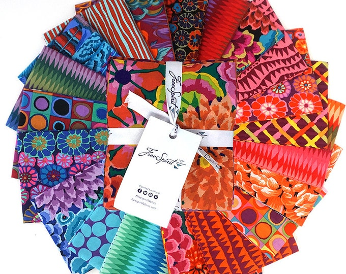 Free Spirit Kaffe Fassett Fall 2018 Night Pink Orange Blue Red Fabric 20 Fat Quarters Bundle