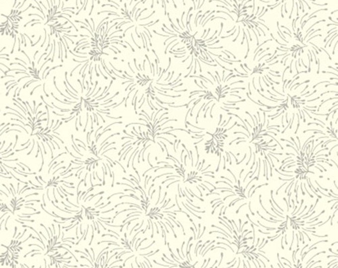 Blank Quilting Chloe Small Twig Bouquet Beige White Gray Cotton 108 WIDE Fabric 3 yard cut 9196-40