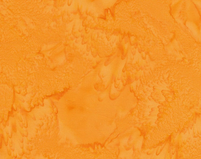 Hoffman 1895 Watercolors Solid Batik Fabric 1895-277 Koi Orange Gold BTY