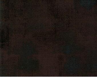 Moda Grunge Basics WINTER COAL Black Brown Charcoal Mottled Background Fabric 30150-431 BTY