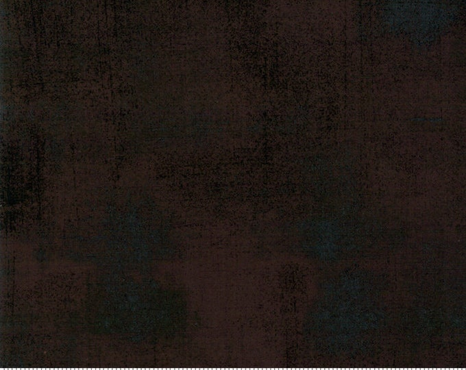Moda Grunge Basics WINTER COAL Black Brown Charcoal Mottled Background Fabric 30150-431 BTY