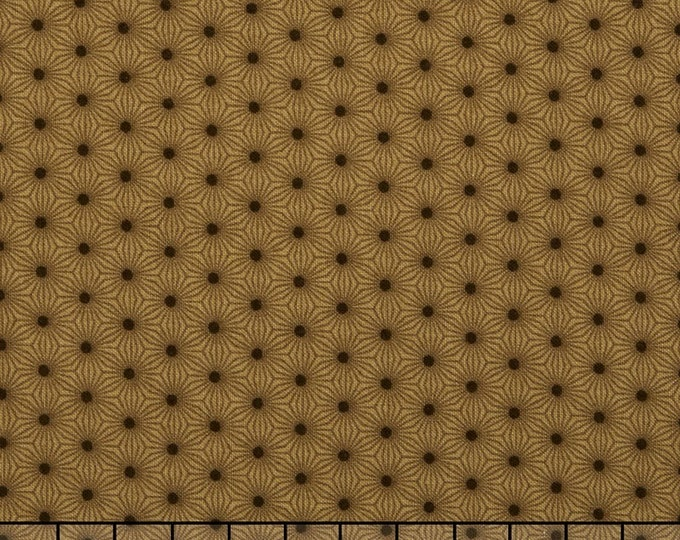 Moda Pumpkin Pie Laundry Basket Quilts Brown Tan Black Polka Dot Seeds Fabric BTY 42283-21