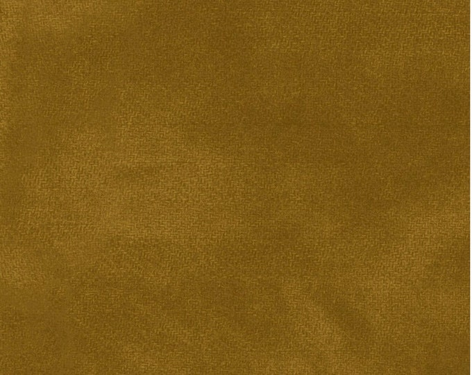 Maywood WOOLIES Color Wash Flannel Fabric Honey Biscuit Copper Yellow 9200-S BTY