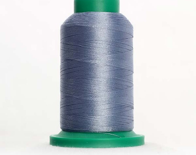 ISACORD Polyester Embroidery Thread Color 3853 Ash Blue 1000m