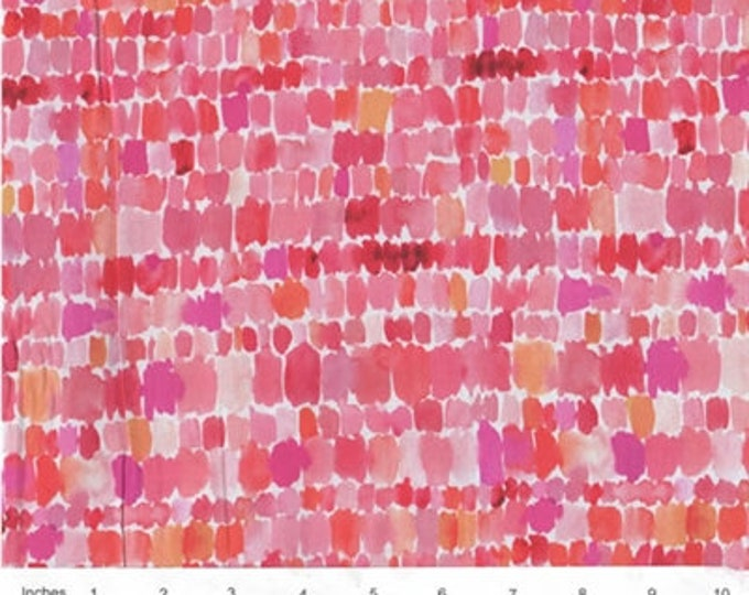 Quilting Treasures QT Fabrics Wild & Fruity Brush Strokes Paint Splashes Pink Orange Red Fabric 1649 27047-P BTY