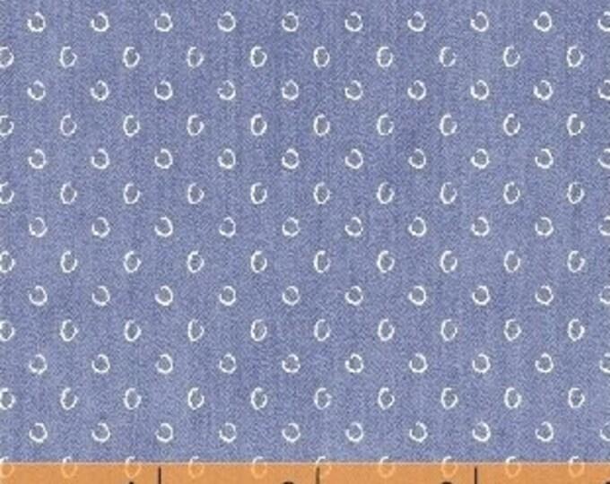 Windham Atlas Cornflower Light Blue Horse Shoe Semi-Circle Cotton Fabric BTY 42299-1
