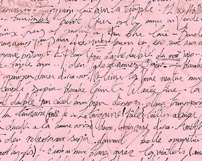 Quilting Treasures  Sweet Caroline Text Words Hand Writing  Fabric 26992 100% COTTON BTY