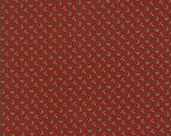 Moda Timeless by Jo Morton Rust Red Gold Circle Civil War Reproduction Fabric 38022-16 BTY