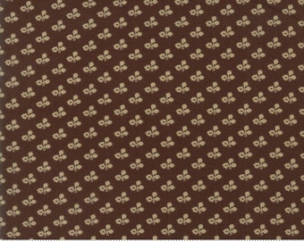Moda Betsy Chutchian Rachel Remembered Saddle Civil War Tiny Brown Floral Fabric BTY 31546-22