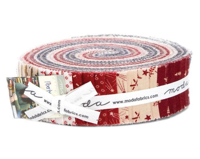 Moda Primitive Gatherings Star and Stripe Gatherings Red White Blue Patriotic Honey Bun 1.5 in Fabric Strips