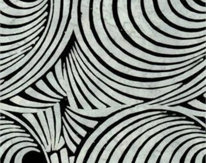 Batik Textiles Circles Black and Gray Rings 4528  Fabric BTY