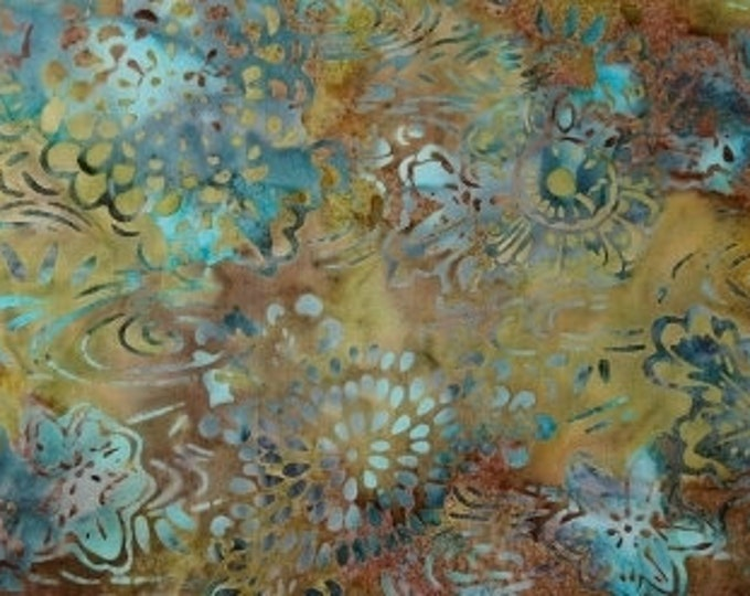 Hoffman Batik Bali Handpaints Big Sur Ocean Fabric 2479-550