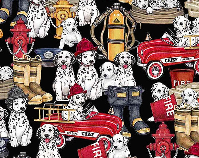 5 Alarm Fire Fighter Dalmatian Truck Gear Black Fabric 26292-K BTHY