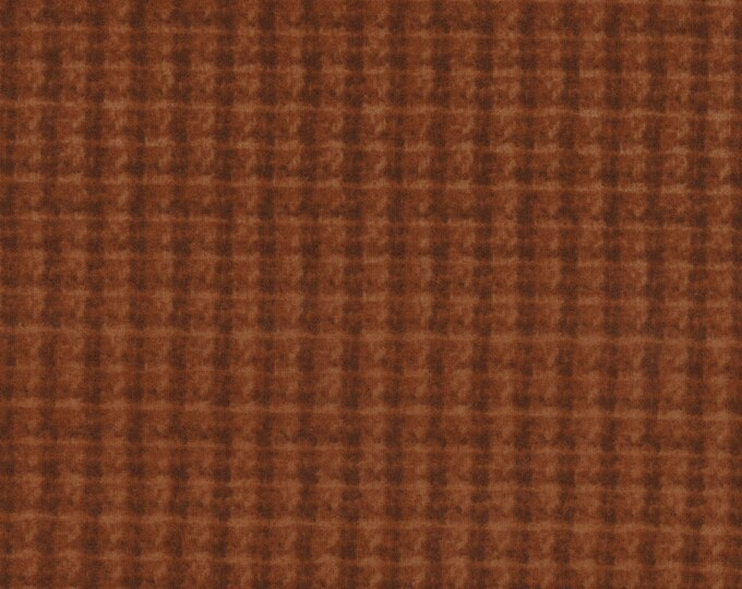 Maywood WOOLIES Orange Rust Double Weave Plaid 18504-O Flannel Fabric BTY