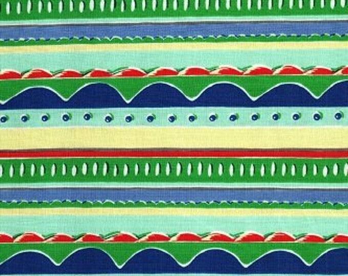 Free Spirit Felicity Miller Kites  Stripes Zany Stripe Multi colored fabric  Cotton 07600-51  BTY