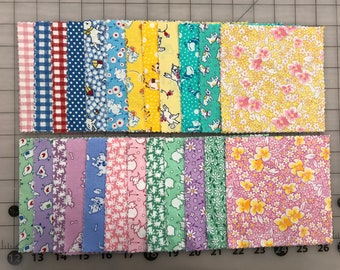 48 Piece Aunt Grace Charm Pack 30's Reproduction Judie Rothermel Marcus Fabric