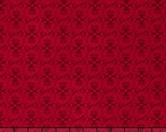 Timeless Treasures Chonga Hwang Glamour Geo Red Fabric BTY C5049