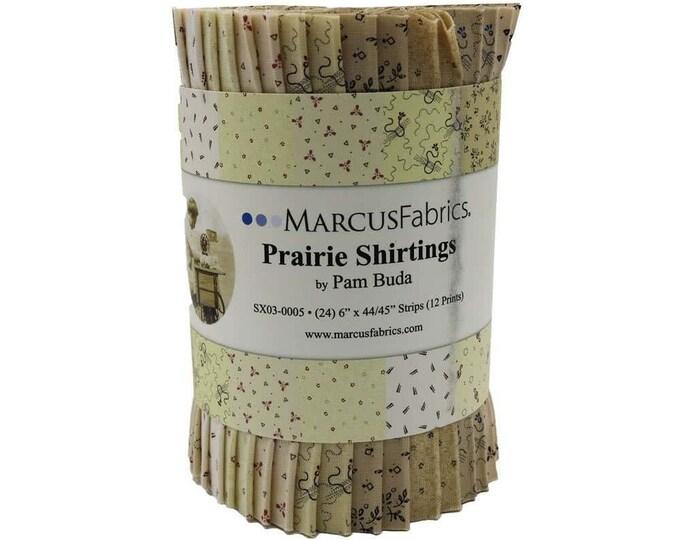 Marcus Fabrics Prairie Shirtings Civil War Lights 6 inch Strips Beige Cream Tan Fabric Roll