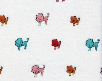 Clover Lion Pink Teal Solid Double Gauze Lightweight Cotton and Steel Fabric BTY
