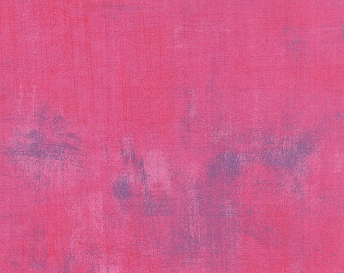 Moda Grunge Basics BERRY Pink Magenta Mottled Background Fabric 30150-288 BTY
