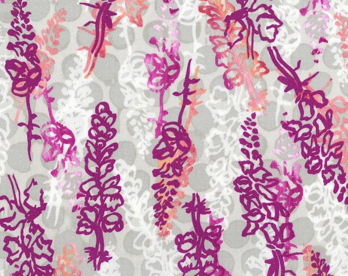 RJR Urban Garden Leslie Tucker Jenison Snappy Dragons Bougainvillea Pink Magenta Fabric 3358-003 BTY