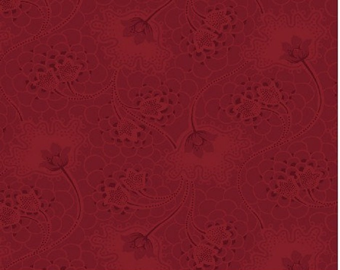Windham Marys Blenders Red Burgundy Tonal Floral Civil War Fabric 32036-2 BTHY
