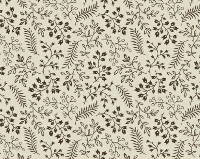 Windham Madeline Julie Hendrickson Cream with Brown Tiny Floral Civil War Fabric BTY 43464-1