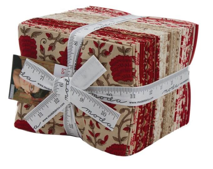 Moda La Vie En Rouge French General Red Cream Beige Tan 30 Fat Quarters Fabric