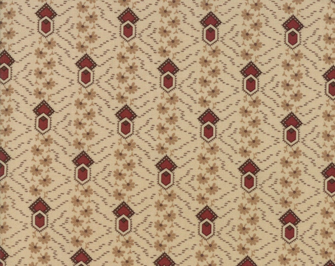 Moda Timeless by Jo Morton Tan Red Stripe Civil War Reproduction Fabric 38027-21 BTY