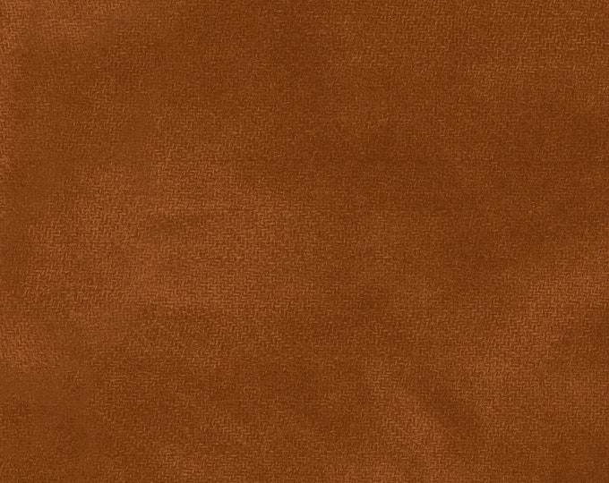Maywood WOOLIES Color Wash Flannel Fabric Cedarwood Orange Rust 9200-O BTHY