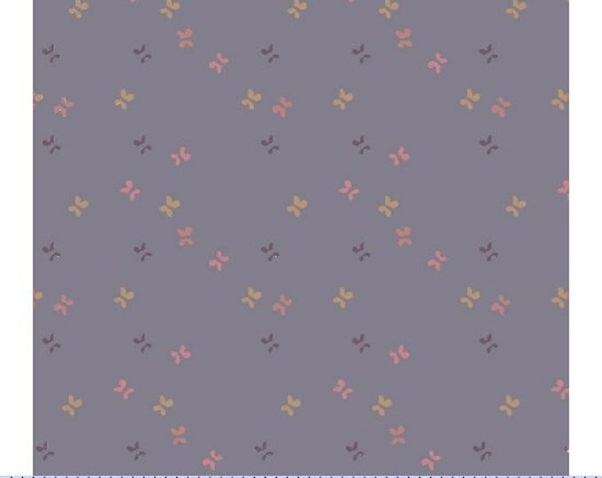 Marcus Nancy Rink On Plumberry Lane Purple Lavender Tan Floral Fabric 2277-0138 BTY